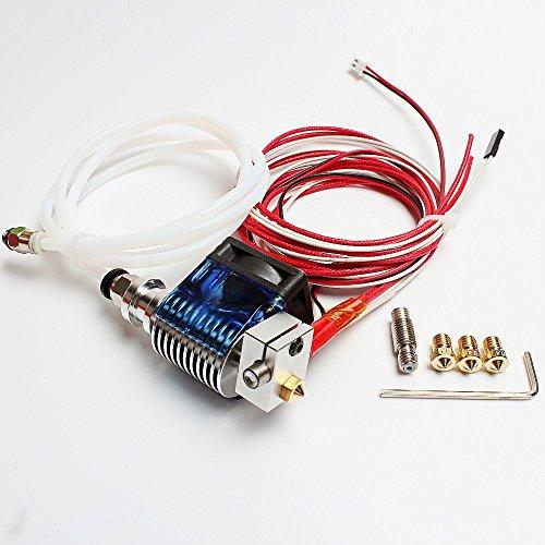 DIKAVS All Metal V6 - Kit de piezas para impresora 3D,Hotend, extrusor, Bowden, Prusa i3de 1,75mm RepRap