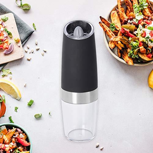 Gravity Electric Salt Pepper Mill Shaker Grinder Set Shaker Adjustable Battery Operated