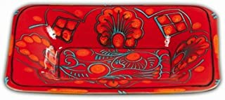 Hand Painted Tramonto Rectangular Platter From Italy