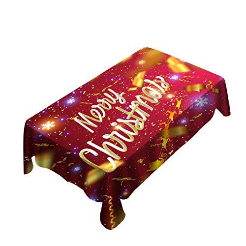 Tensay Weihnachten Tischdecke Stuhlabdeckung Digitaldruck Weihnachten Tischdekoration Ornament
