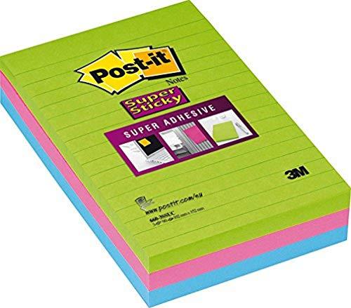 3M Post-It 51X-FRB - Notas autoadhesivas, 3 x 90 unidades, multicolor