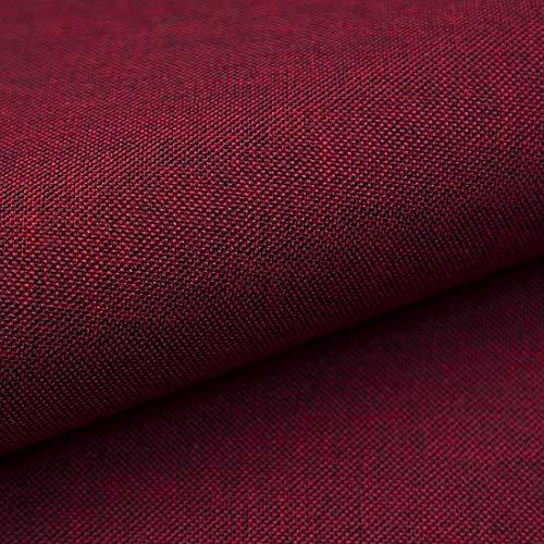 Teker Torino Polsterstoff Möbelstoff Meterware - z.B. Stoff für Stühle oder Eckbank Bezug - Bordeaux Rot