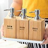 NYDZ Dosificador Jabon Dispensador De Jabón Bamboo Soap Container Pump Dispenser Holder (Color : 4 Piece Set)