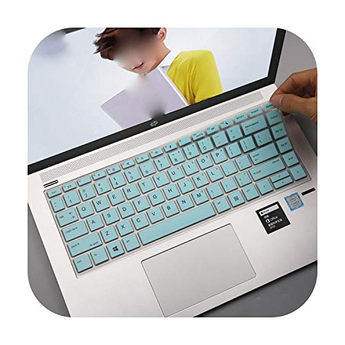 Para HP Elitebook serie 700 840 845 G5 5.3 14 pulgadas teclado teclado protector piel blancoazul-