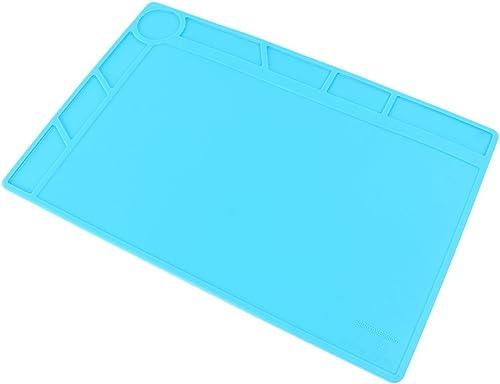 Mallofusa 13.4x9 Inch Magnetic Heat Insulation Pad Desk Mat for BGA Soldering Smartphone Iphone Repairing, Anti-Static Silicone Heat Insulation Mat