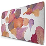 Gaming Mouse Pad, Non-Slip Rubber Gaming Mouse Pad, Rectangular Mouse Pad Colorful Dry Dried Flower Petals Pink Pressed Potpourri Rose Bloom