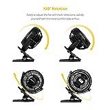 Zoom IMG-1 easyacc ventilatore clip da tavolo