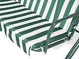 Beliani Stilvolles Hollywoodschaukel für Garten in Streifen weiß/grün Chaplin - 8