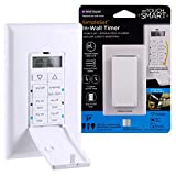 myTouchSmart Digital Timer, Push Door Switch, 4 Programmable On/Off Buttons, Easy On/Off, 24 Hour Daily Cycles, for Indoor and Outdoor Lights, Fans, 41431