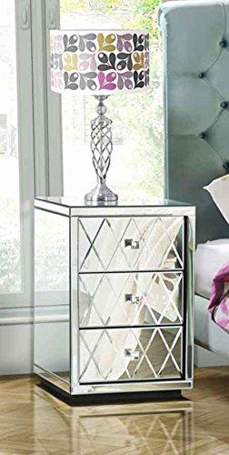 My-Furniture Coppia di comodini Knightsbridge a Specchio a 3 cassetti