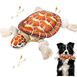 """🐢INTERACTIVE TOY: Our interactive dog plush toys is perfect for a game of """"tug of gun"""" or as a comfort toy between you and your puppy, which can relieves the depression and boredom and anxiety to your dog, It is a great way to add daily exercise and ..."""