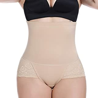 Tummy Control Butt Lifter Panties Waist Trainer High Waist Lace Control Shapewear Brief for Woman