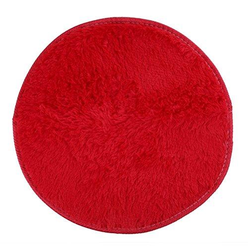 Pasen anti-slip ondervloer pluizig ronde schuim tapijt niet-slip douche eenvoudige stijl mat vloerkleed wit 42 Cm deurmat dagelijks ornament retro elegante non-slip deurmat Size Rood