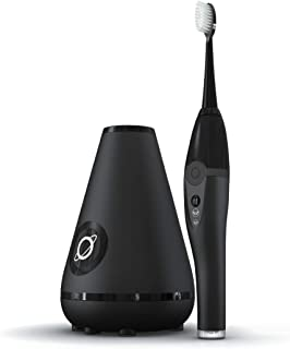 TAO Clean Sonic Toothbrush and Cleaning Station – Deep Space Black – Electric Toothbrush with Patented Docking Technology, Ergonomic Handle, Dual Speed Settings