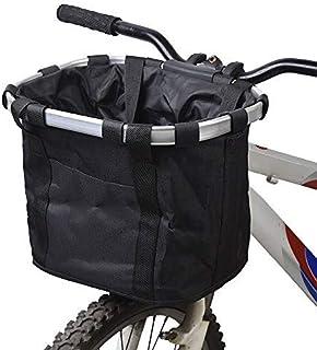 comprar comparacion Cesta Plegable para Bicicleta, Tela Oxford De Aleación De Aluminio Desmontable Cesta Trasera para Bicicleta Colgante Acces...