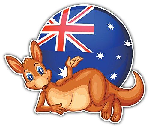 SkyBug Kangaroo Australian Flag Bumper Sticker Vinyl Art Decal for Car Truck Van Window Bike Laptop