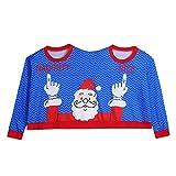 SHOBDW Mujer Hombres Suéter de Dos Personas Unisex Parejas Pullover Novedad Feliz Navidad Regalo...