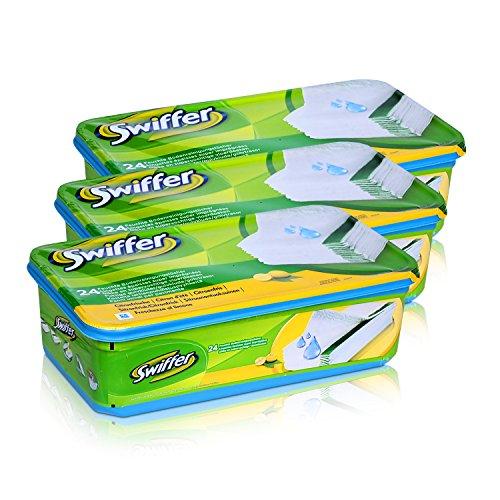 3x Swiffer Wet Wischtücher Nachfüllpackung 24 Tücher