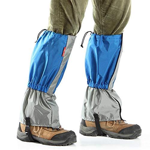 HUOFEIKE 1 par de polainas de nieve para patas, para senderismo, caminatas, botas de esquí al aire libre, impermeables, para raquetas de nieve