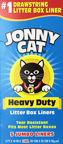 JONNY CAT Heavy-Duty Litter Box Liners