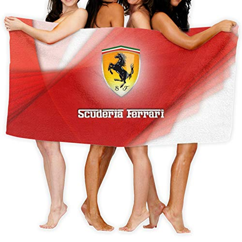Ferrari - Toalla para mujer, 100% algodón, muy absorbente, de rizo suave, para ducha, spa, sauna, playa, gimnasio, toalla