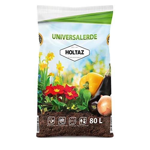 Holtaz Terriccio Universale 80 lt Terra per Piante per Tutti Gli Usi Terreno Organico Ortaggi Fiori...