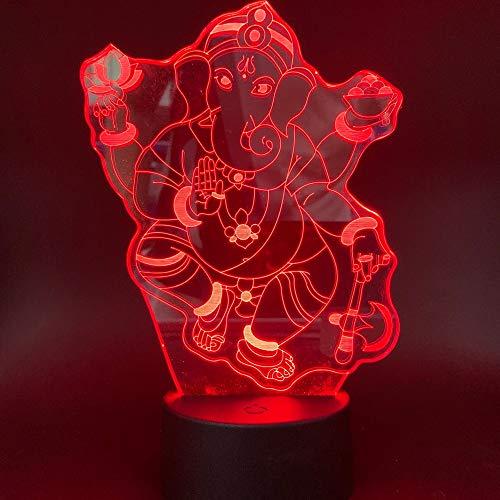 3D Nachttischlampe Ganesha Günstiger Schatz Buddhismus Pra Pikanate Kinder Geschenk Buddhistisches Schlafzimmer Dekoration Nachtlicht Nachttischlampe
