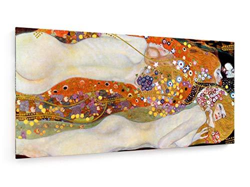 weewado Gustav Klimt - Serpientes de Agua II - 1904-1907 - 120x60 cm - Impresion en Lienzo - Muro de Arte - Canvas, Cuadro, Poster - Old Masters/Museum