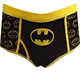 DC Comics Batman Glow In The Dark All Over Logo Hipster Panty (2XL)