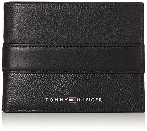 Tommy Hilfiger - Th Downtown Cc Flap And Coin, Tarjeteros Hombre, Negro (Black), 3x10x12.8 cm (B x H T)