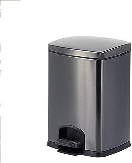 ZXJshyp Trash Bin Bathroom Living Room Bathroom Stainless Steel, Silent Fashion Creative Trash Can, Kitchen Bathroom with ...