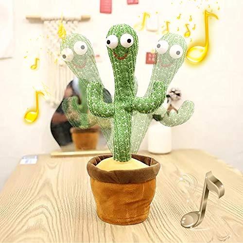 Hzing Kaktus-Plüschtiere, elektronischer Tanzender Kaktus, singender und Tanzender Kaktus-Plüsch-Feiertagsdekoration für Kinder, lustiges frühkindliches Erziehungsspielzeug