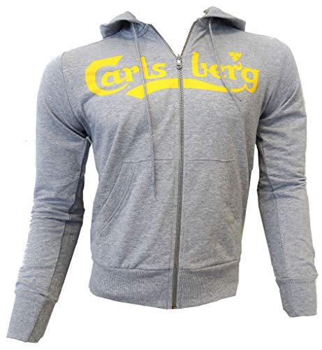 Felpa maglia Carlsberg Uomo Men Full Zip Cappuccio hood made in Italy 100% cotone CBU2507