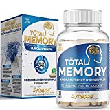 AZOTH Advanced Memory Formula: Fast Acting Memory Supplement for Brain & Brain Booster Supplement for Focus, Memory, Clarity, Energy - Vitamin D3, Bacopa Monnieri Capsules, Huperzine A (30 Pills)