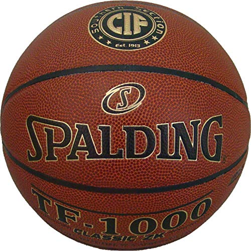Affordable Spalding TF-1000 Classic ZK Indoor Basketball NFHS Official Size 7, 29.5 CIF Southern Se...