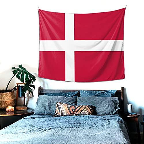 Dänemark Wandteppich, Heimdekoration, Wandbehang, Tagesdecke, Picknickdecke, für Schlafzimmer, Wohnzimmer, Schlafsaal, Yoga, Meditation, 152 x 130 cm