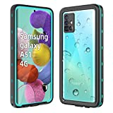 WIFORT Case Fit for Samsung A514G,Waterproof Case Full Body Sealed Built in Screen Protector,Dual Layers Front and Back Cover Rugged Snowproof Shockproof Dusproof for Galaxy A514G Case,Blue + Clear