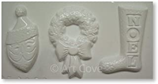 plaster of paris christmas molds