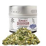 Green Goddess Sea Salt & Seasoning - Gourmet Spice Mix - Non GMO - 1.5 oz - Small Batch - Magnetic Tin - Gustus Vitae