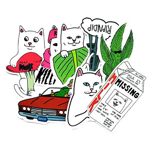 BLOUR Lustige Ripndip Mittelfinger Katze Aufkleber Klassisches Spielzeug Laptop Skateboard Koffer Aufkleber Spielzeug Für Kinder 28pcs / Lot