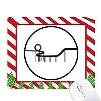 ジェットコースター遊園地のシルエット ゴムクリスマスキャンディマウスパッド