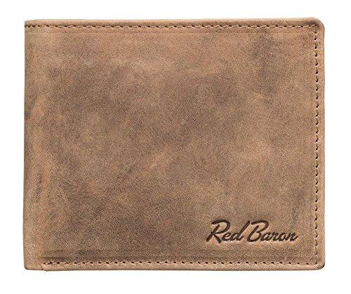 Billetera Hombre Piel de Vaca authéntica marrón diseño cl
