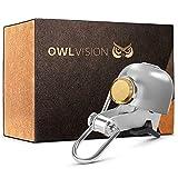 OWL VISION - Hochwertige Fahrradklingel Stylus [universal passend] Fahrrad Klingel Retro mit sehr klarem Klang - Premium Fahrradglocke für...