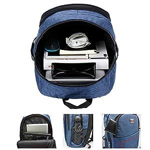 51UJgE40rGL. SS300  - Mochila de Ordenador portátil de Negocios Bolsas de la Escuela de la Universidad con Mochila de Viaje para Hombres y Mujeres 15.6 Pulgadas aptas Tabletas de (Azul Oscuro)