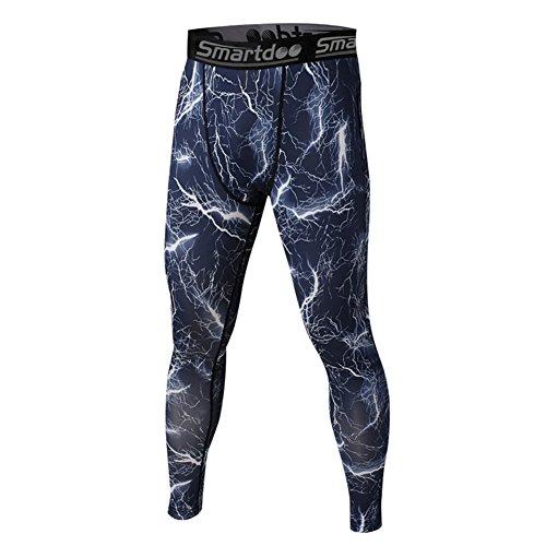 Smartdoo Pantaloni a Compressione, Strato Base sotto-Pantaloni Aderenti da Uomo, Lunghi-Leggings da Corsa, da Donna, alla Caviglia, Elasticizzato per Basketball Football