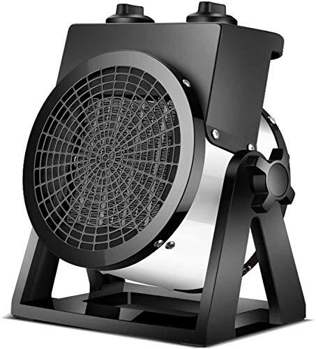 Terrassenheizung Elektrische 2000W PTC Keramik-Ventilatorheizung, Tisch-Terrassenheizung, Gewächshausheizung Für Zimmer, Camping, Garten, Garage Weiß
