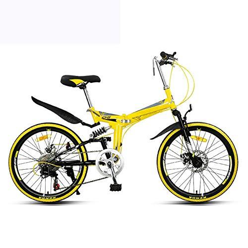 lqgpsx Folding Mountain Bicycle Bike Adult Lightweight Unisex Men City Bike 22-inch Wheels Aluminium Frame Ladies Shopper Bike With Adjustable Seat,7 speed,Disc brake