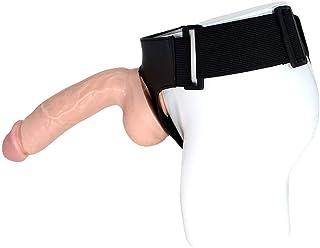 HLJ L&esbian Interactive Toy Wearable Simulation P-Enis Massage Stick (Color : Flesh Colour)