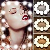 Luces LED para Espejo de Maquillaje, Sendowtek Kit de 10 Bombillas LED Luz de Espejo de Tocador Estilo Hollywood Lámparas para Espejo del Baño Bombillas de Armario con 5 Tipos de Brillo Ajustables y...