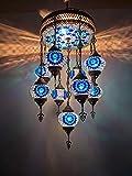 Sudamlasibazaar - Personalizable techo de mosaico marroquí turco, lámpara de mosaico, lámpara colgante, lámpara colgante, luz, iluminación, decoración del hogar, luz turca